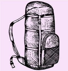 Touristic backpack vector