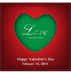 Valentine Day Card Background vector image
