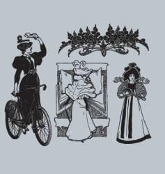 vintage lady's vector image vector image