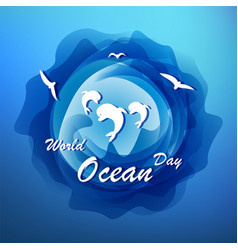 world ocean day vector image vector image
