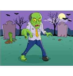Zombie Cartoon vector image vector image