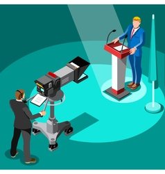 Election news infographic premier isometric people vector