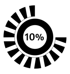 Ten percent download icon simple style vector