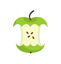 Apple core isolated fruit trash rubbish on white vector