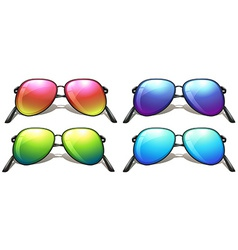 Coloured sunglasses vector
