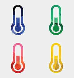 Thermometer icon abstract triangle vector