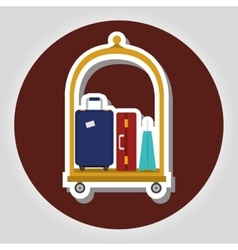 Hotel services icon vector