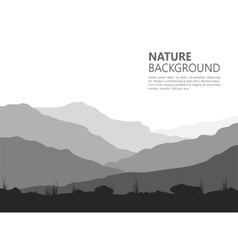Landscape with huge mountains vector