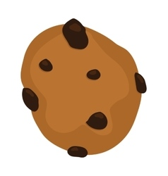 Gingerbread chocolate chip cookie isolated vector