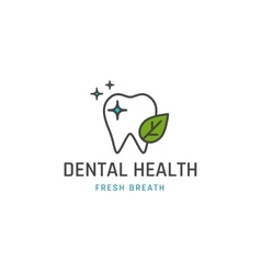Dental health icon vector