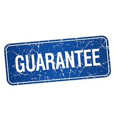 Guarantee blue square grunge textured isolated vector