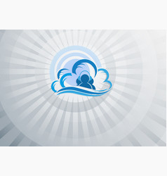 blue light background computer cloud vector image vector image