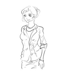 Businesswoman cartoon sketch vector image