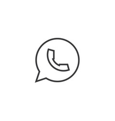 Chat message icon line style vector