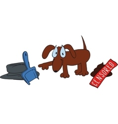 cute dog poop vector image