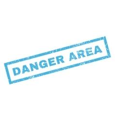 Danger area rubber stamp vector