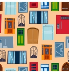 Different house doors elements vector
