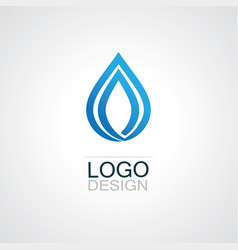 drop water ecology logo vector image