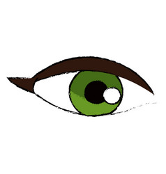 Female eye vision optic cartoon vector
