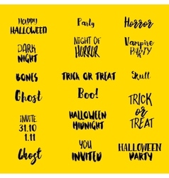 Halloween quotes at yellow vector
