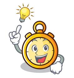 Have an idea chronometer character cartoon style vector