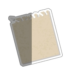 Isolated paper sheet vector image vector image