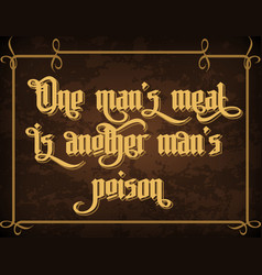 One mans meat is another mans poison vector