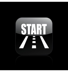 race start icon vector image vector image