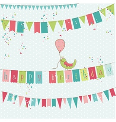 retro birthday card vector image vector image