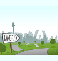 road to madrid vector image vector image