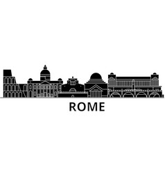 rome architecture city skyline travel vector image vector image