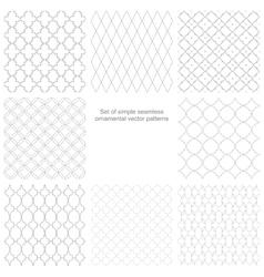Set of seamless ornamental patterns vector image