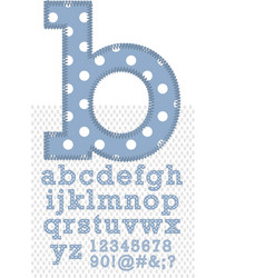 Set of stitched font vector