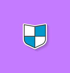 Shield flat icon vector