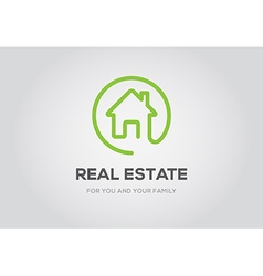 Template logo for real estate agency or cottage vector image