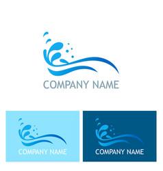 water splash ocean company logo vector image