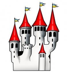 white castle vector image