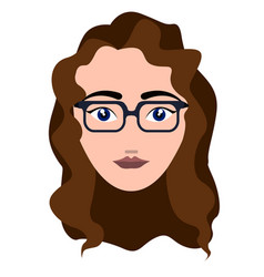 Woman hipster avatar vector