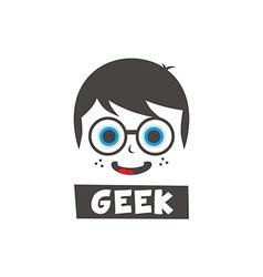 Young geek cartoon vector