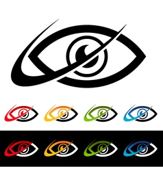 Swoosh Eye Logo Icons vector image
