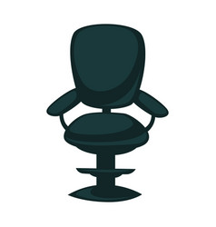Black office chair with back and armrests isolated vector