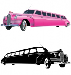 stretch limos vector image