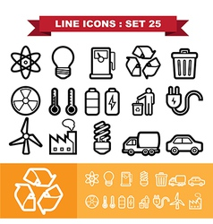 Line icons set 25 vector