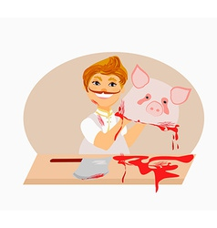 Butcher - cartoon vector