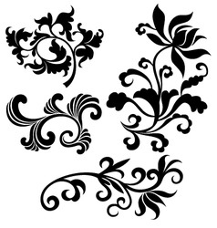 scroll floral vector image