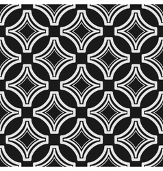 Seamless geometric black and white pattern vector