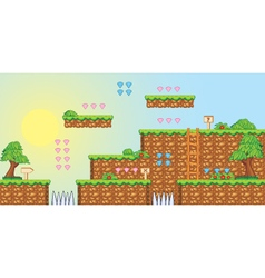 2d tileset platform game 3 vector