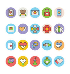 Love and romance colored icons 5 vector