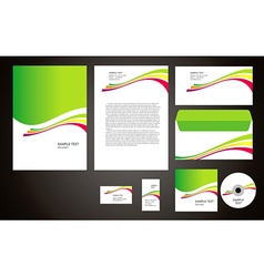 abstract creative corporate identity line wave col vector image