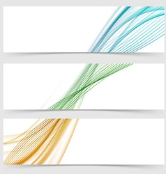 Abstract header collection with modern swoosh line vector image vector image